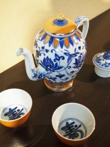 ラスター彩寿煎茶碗